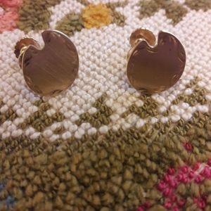 Goldtone artist pallet screw back earrings